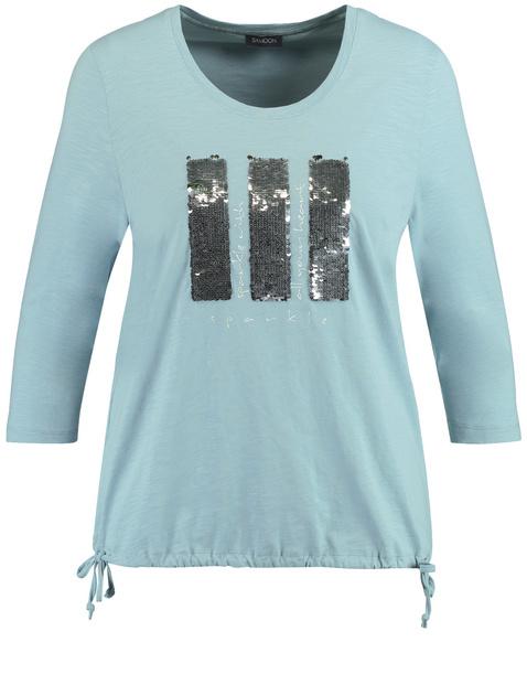 Shirt mit Pailletten aus GOTS zerstifizierter Bio-Baumwolle