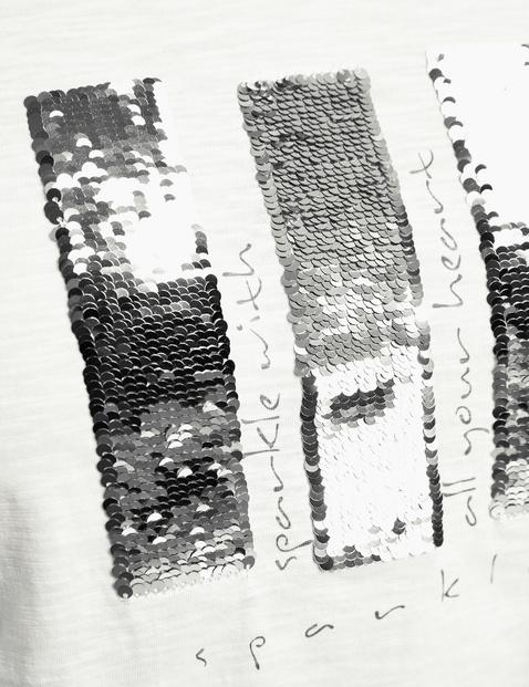 Koszulka z cekinami z bawełny ekologicznej z certyfikatem GOTS
