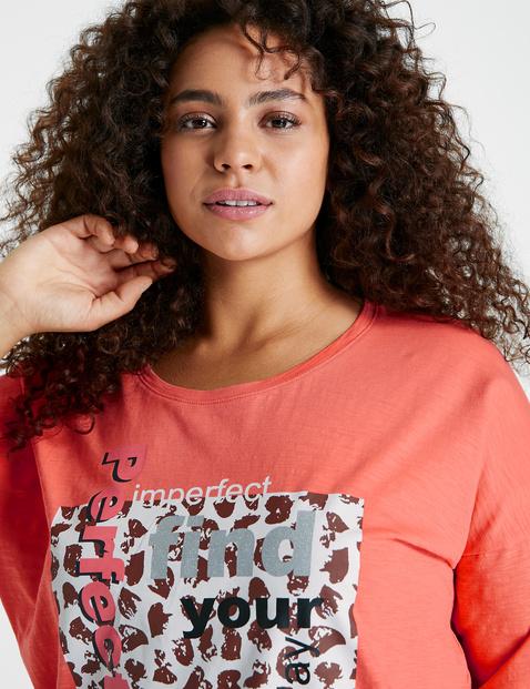 Luźna koszulka z rękawem o dł. 1/2 z bawełny posiadającej certyfikat GOTS