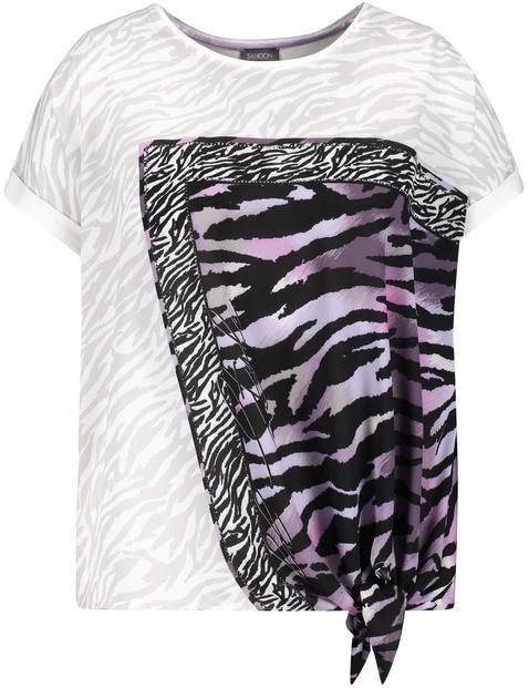 Blouseachtig shirt met animal print