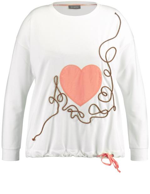 Sweatshirt mit Satin-Herz