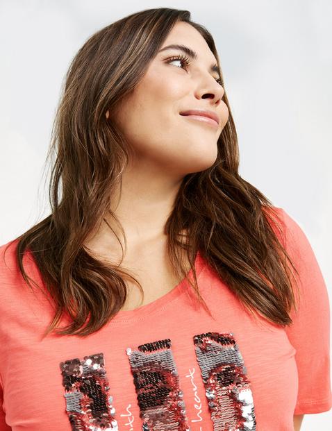 Shirt mit Pailletten aus GOTS zertifizierter Bio-Baumwolle