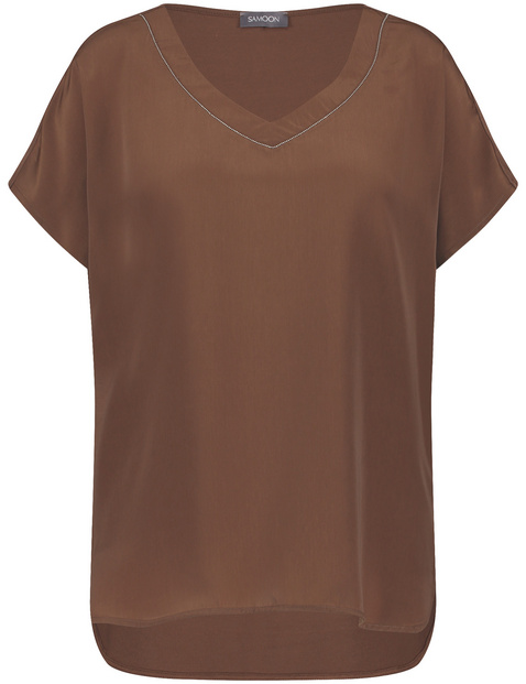 Blusenshirt mit V-Ausschnitt
