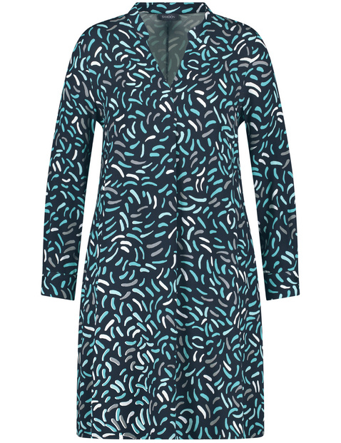 Blouse dress with an all-over print
