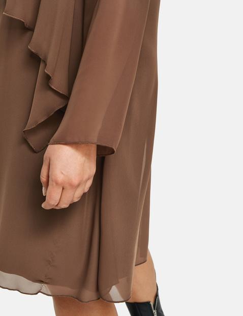 Chiffon dress in a layered look