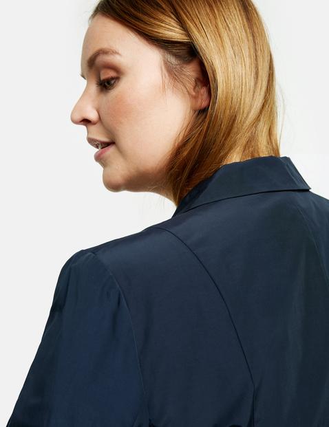 Material mix blazer