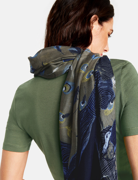Scarf with a placement print