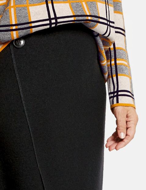 Wrap-effect skirt
