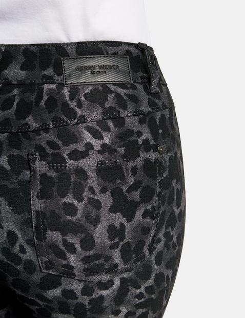 5-Pocket Hose mit Leomuster Best4me Kurzgröße