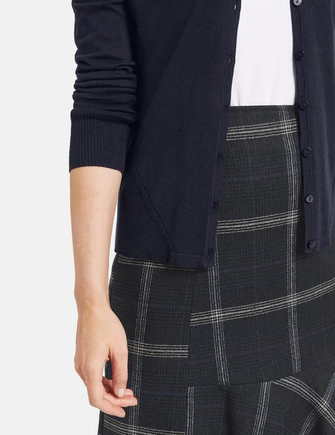 Fine knit cardigan