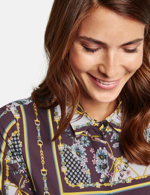 Długa bluzka w patchworkowy wzór