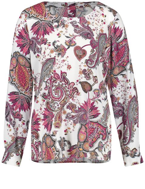 Bluse mit Paisley-Blumen Print