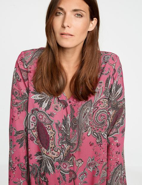 Lange blouse met paisleyprint