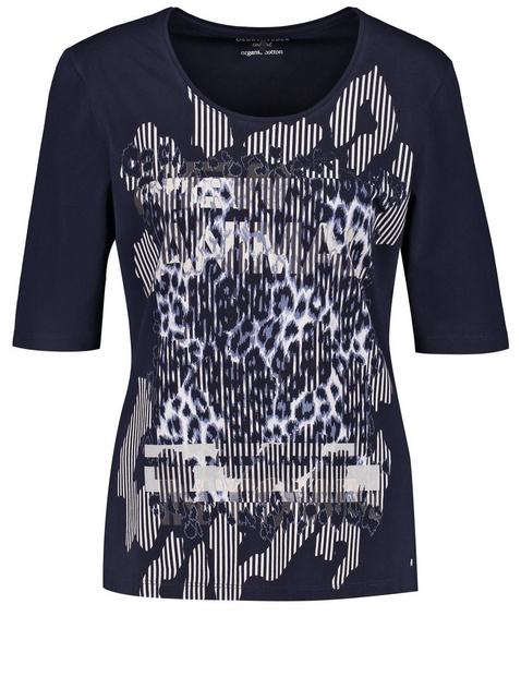 Koszulka z nadrukiem leoparda z przodu