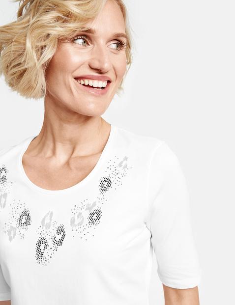 Shirt met halflange mouwen, organic cotton