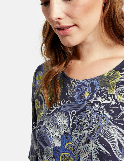 Organic cotton patterned top