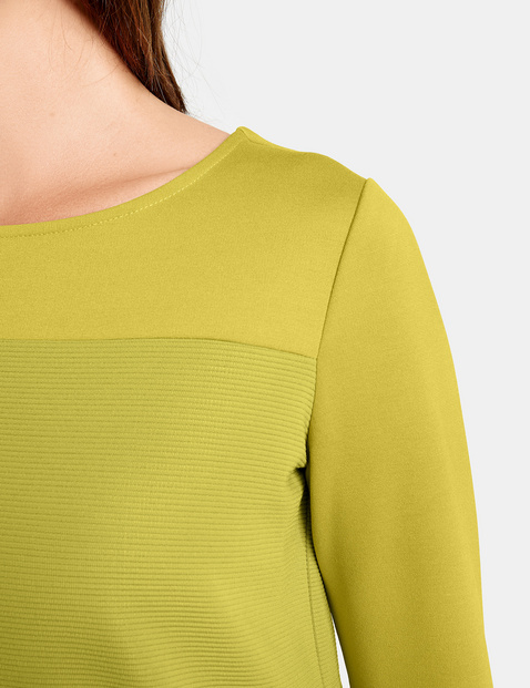 Long sleeve top with textured details