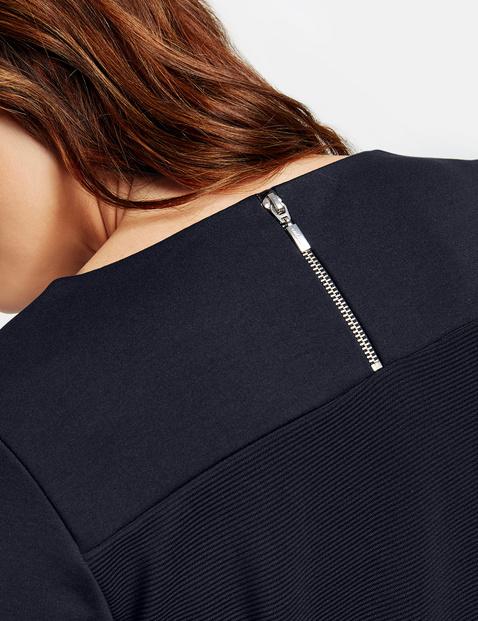 Bluzka z długim rękawem z fakturowanymi detalami