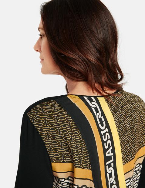 Langarmshirt mit bedrucktem Rückenteil