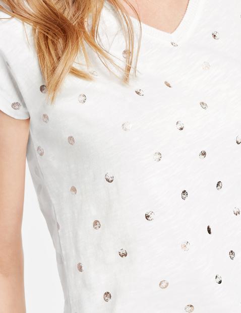 Shirt mit Glitzerpunkten