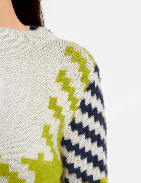Sweter w dużą kratę