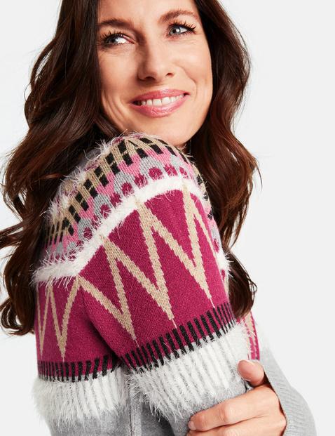 Sweter w żakardowy wzór