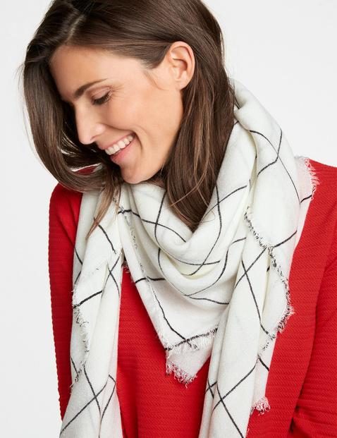 Windowpane check scarf