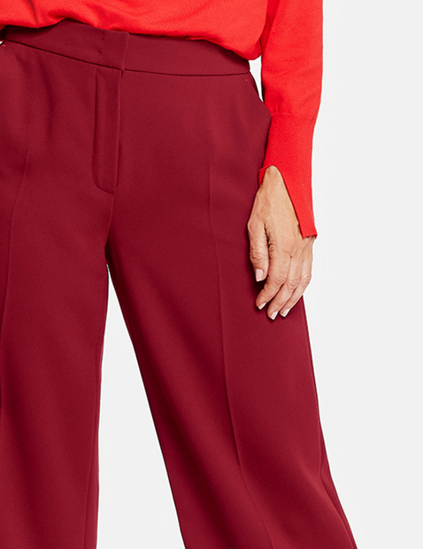Culottes with pressed pleats