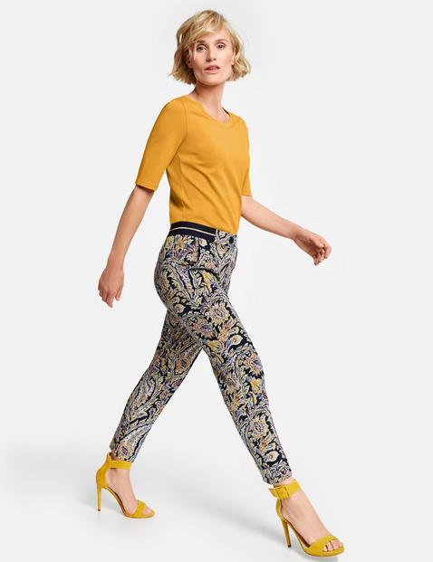 Spodnie we wzór paisley