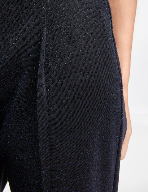 Trousers with lurex