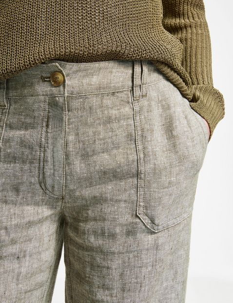 Textured linen trousers