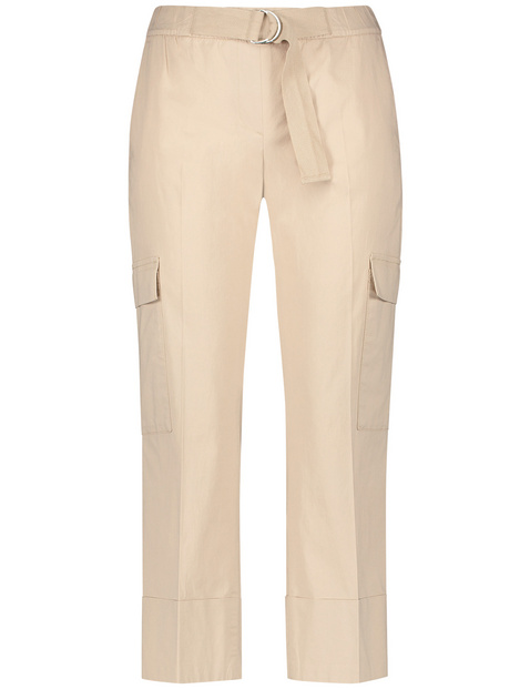 Cargo trousers with wide turn-ups