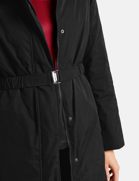 Coat with a waist belt