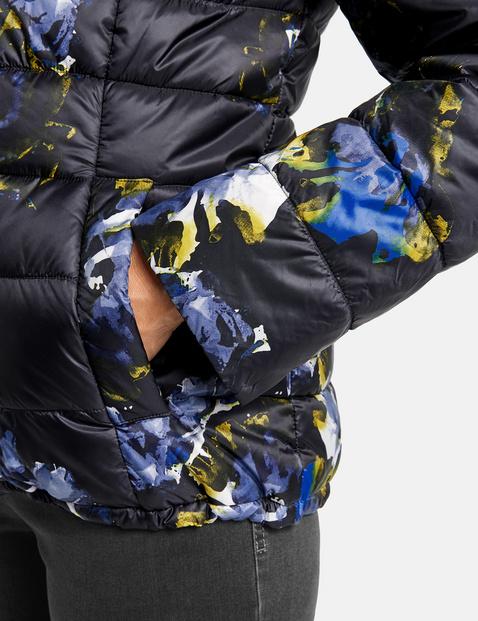 Gewatteerde jas met print