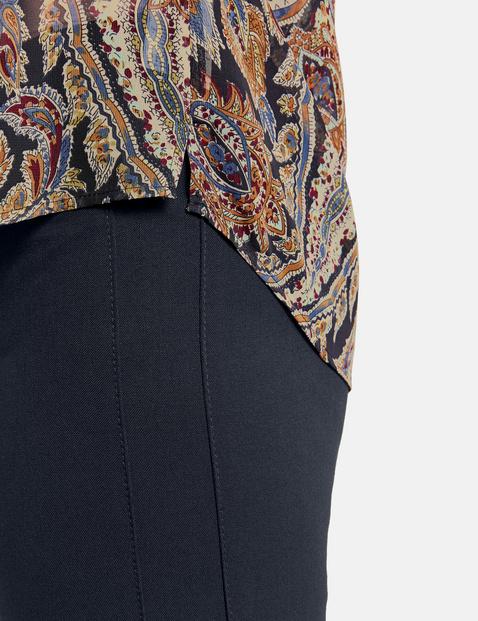 Bluzka z długim rękawem i nadrukiem paisley