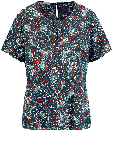 Blouse top with a minimalist pattern