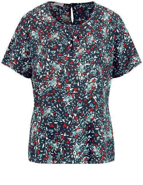 Blouseachtig shirt met fijn motief