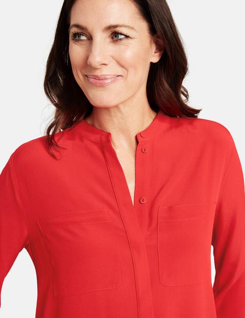Bluzka z długim rękawem z kieszonkami na piersi