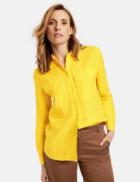 Pure linen shirt blouse