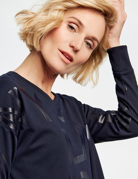 Sweatshirt mit Folienprint