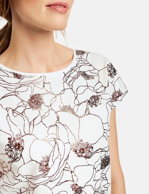 Koszulka z foliowym nadrukiem, bawełna organiczna