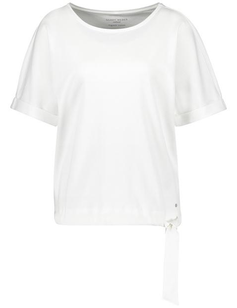 Shirt met korte mouwen en zoomband