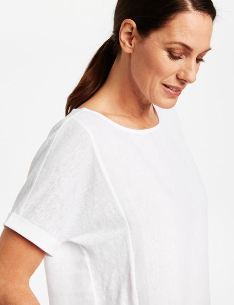 1/2 Arm Shirt aus reinem Leinen