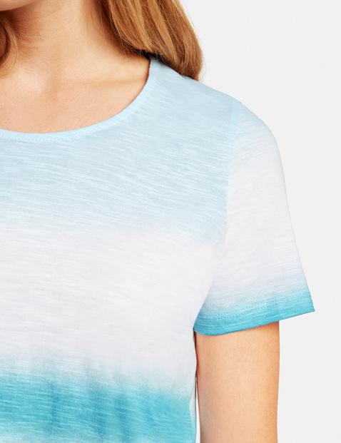 Shirt mit Batikstreifen organic cotton