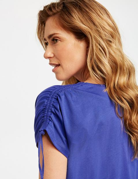 Shirt met gerimpeld detail organic cotton