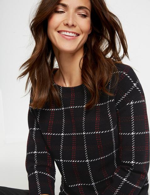 Sweatshirt mit Karodessin