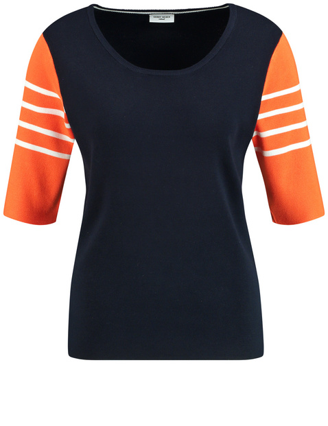 1/2 Arm Pullover mit Colorpatch