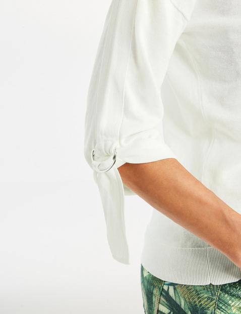 3/4 Arm Pullover mit Krempelarm