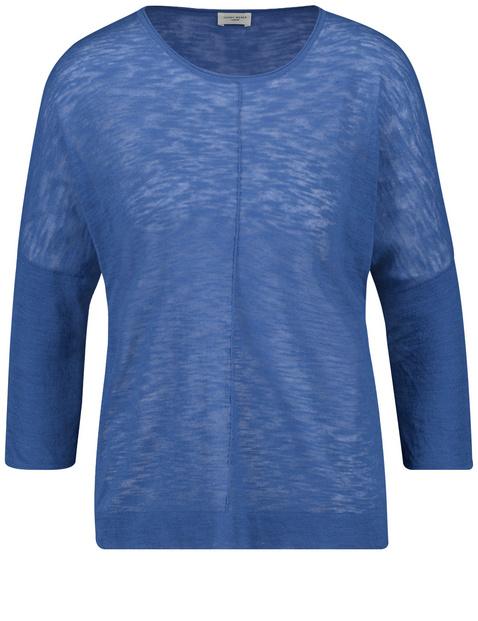 Sweter z rękawem o dł. 3/4 i szwami działowymi