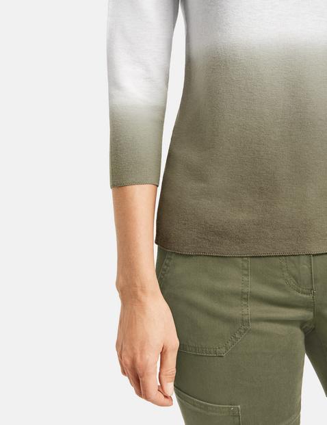 3/4-length sleeve dip-dyed jumper